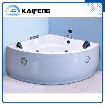 Self cleaning triangle shaped bathtub with pillow buy self cleaning bathtub triangle bathtub - Triangular bathtub ...