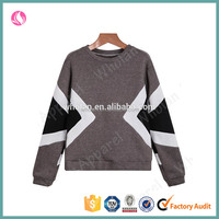 Wholan hot sale women grey sweatshirt wholesale pullover hoodie for women