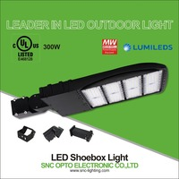 SNC UL 300w led parking lot shoe box light replace 1000w old Metal Halide or HPS lamp with Meanwell driver