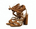 Wholesale high heel sandals ankle strap sandals