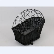 wicker pet bicycle front basket