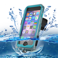 Exclusive waterproofing product PC+TPE+Silicone diving phone case with 2017 armband case for iPhone