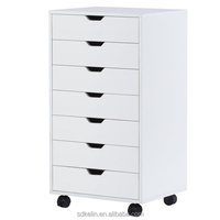 Simple designs 7 Drawer chest Mobile Cabinet for Office & Closet