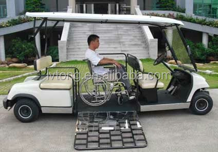4 seaters electric golf car for disabled