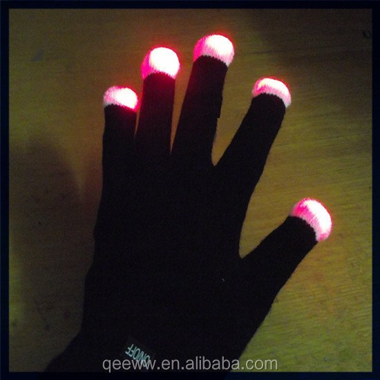 Yhao amazon supplier 2016 new design magic party /bar gloves led lighting glowing gloves
