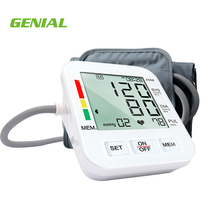Digital blood pressure monitor with heart beat rate pulse meter measure home use for middle-aged people