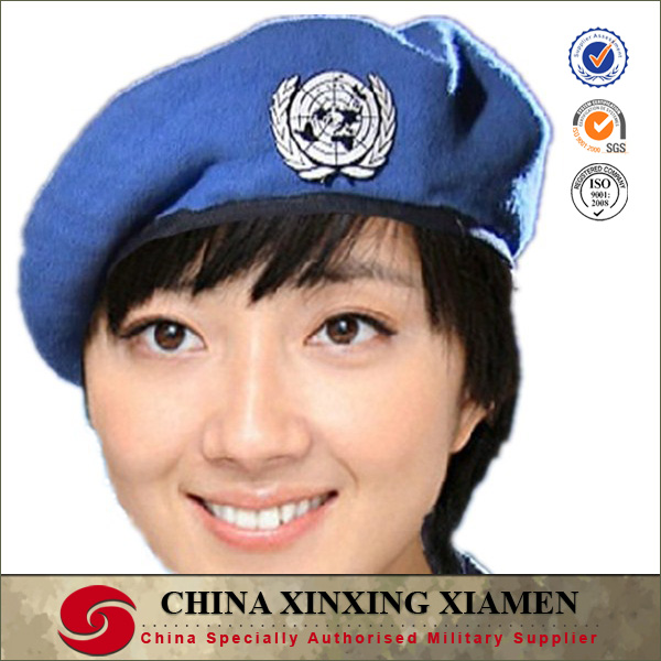 Un Blue Peacekeeping Force Military Beret