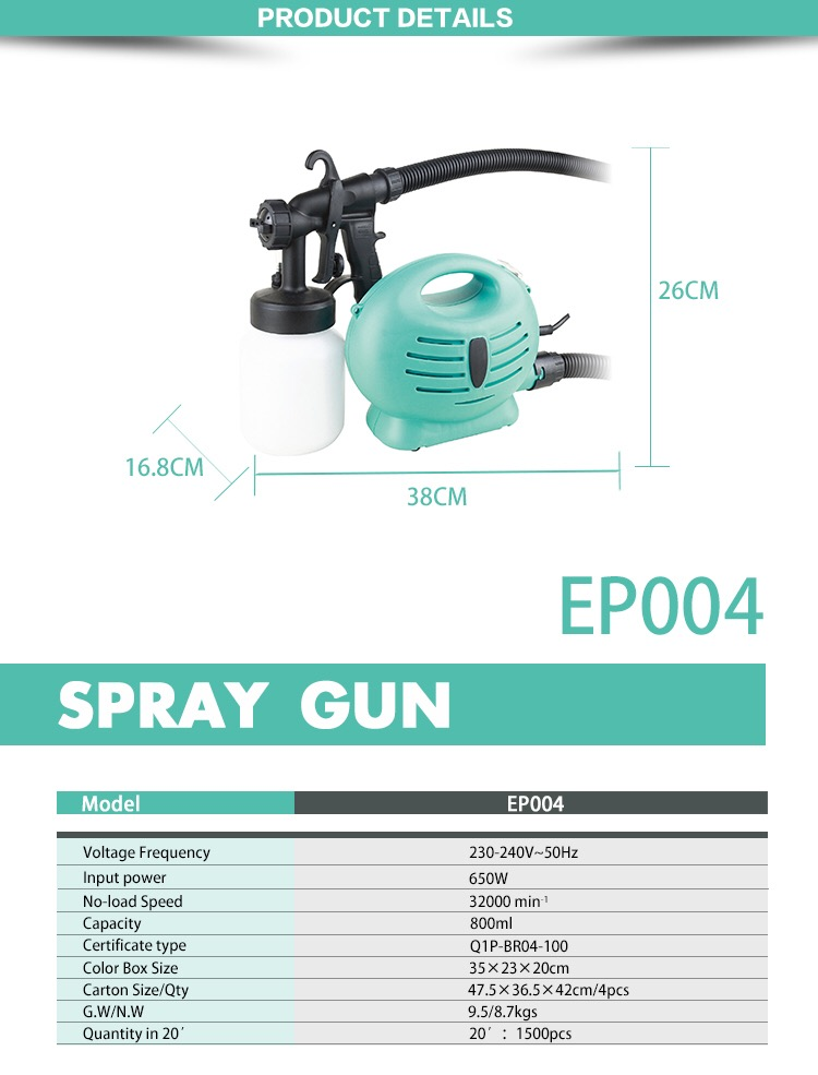 Hot sale electric good price hvlp airless paint sprayer CE/GS/RHOS