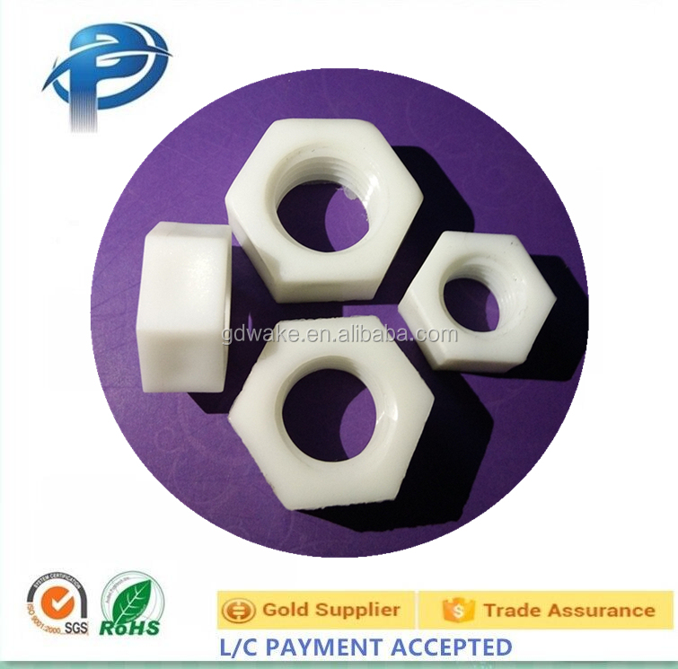 Black or White plastic hex nuts also can be Customized plastic hex flange nuts