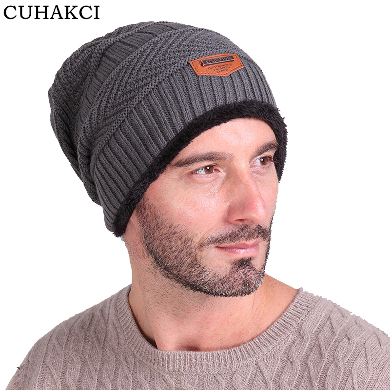 High Quality Soft Beanies Knitted Hat Unisex Winter Wool Cap Men Warm Baggy Beanie
