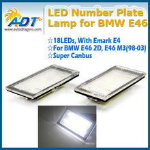 Canbus error free auto parts led license plate lamps for BMW E46 2D Coup/E46 M3(98-03)