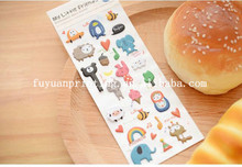 2015 PVC hot sale cute foam animal sticker,decoration EVA sticker,adhesive puffy sticker