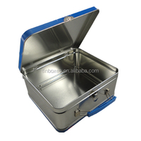 lunch boxes tin metal vintage storage boxes