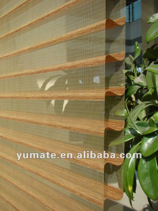 YUMA 100% polyester triple shade & shangri-la blind with SMIT loom