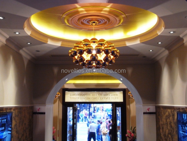 Modern hotel Lobby area lighting Colored Beads chandeliers light