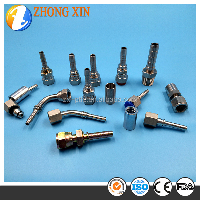 Many types straight union tube fittings from hydraulic hose Teflon ptfe plastic pipe tube fittings