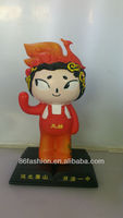 cartoon character mascot,plastic customized mascot,plastic products OEM
