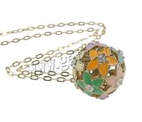 Zinc Alloy Round 14kt Gold Chain Necklace 721427