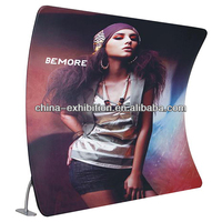 10ft Curved Tension Fabric Display Wall