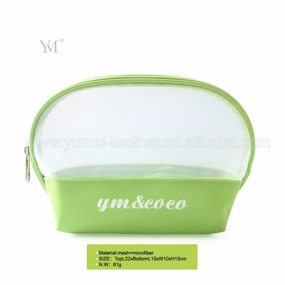 hottest product wholesale travel mesh clear cosmetic pouch make up bag