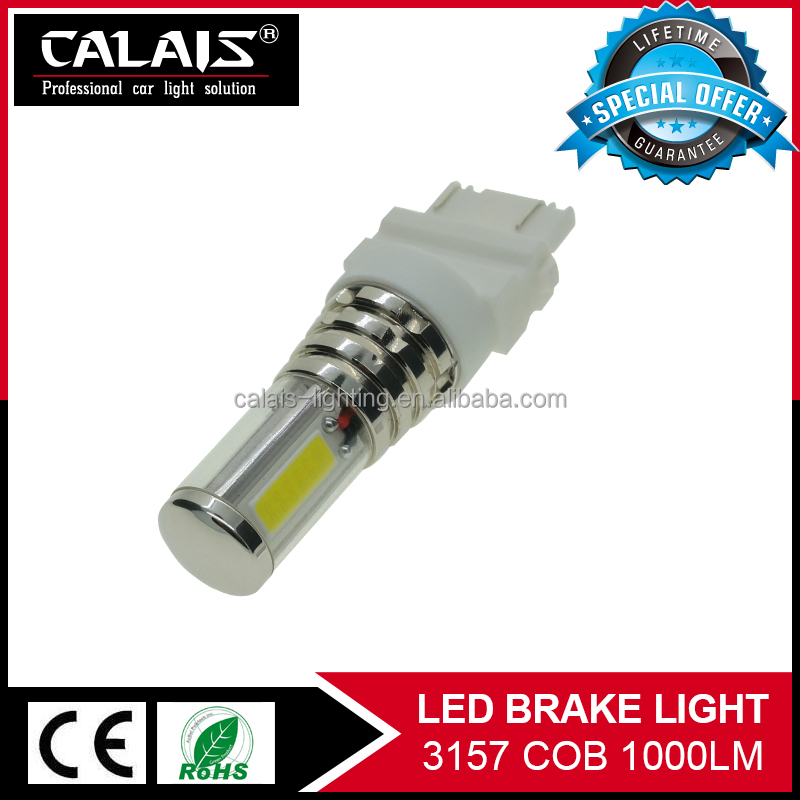 High Power white/green/yellow/red/blue <strong>auto</strong> 3157 3057 T25 3457 P27/7W brake light tail lamp bulb with cob chips