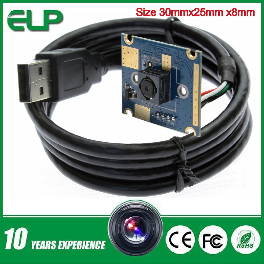 ELP OV5640 Sensor 5mp Small Size micro mini UVC android autofocus cctv usb webcam