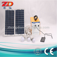 Intergreted compact portable home solar power system 12V12AH 100W DC series
