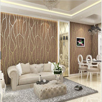Suede Fabric pvc velvet wall covering 3d wallpaper for home decoration