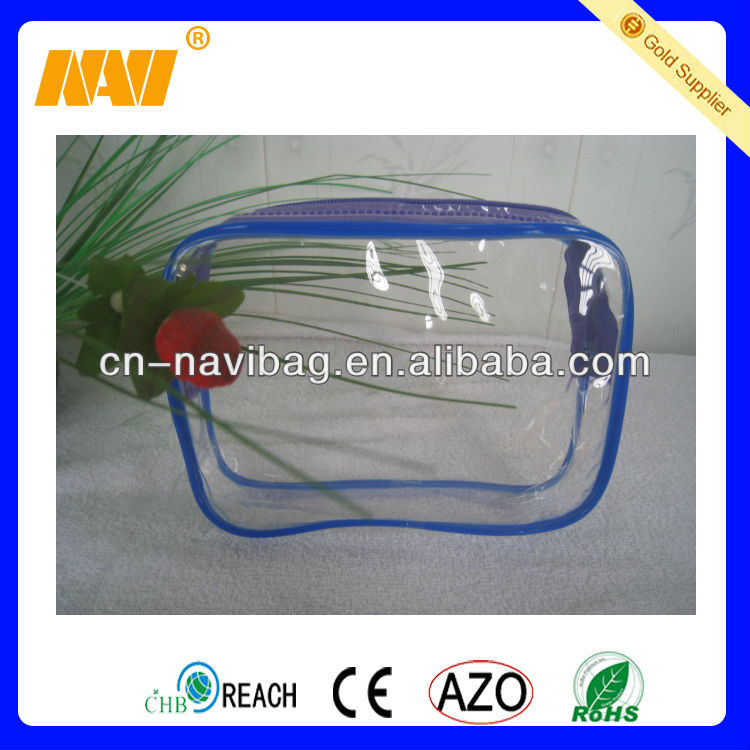 plastic zipper cosmetic bag(NV-PV071)