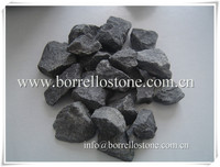 black crushed stone aggregate
