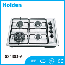 GS4S03-A CE Approved Stainless Steel gas stove 4 burner high pressure