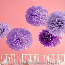 Wedding wall Decorations and Baby Shower color printed hanging Tissue Paper flowers ball