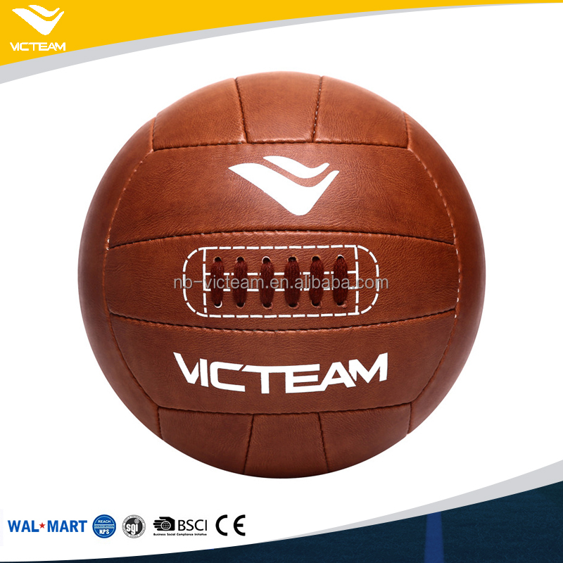 Most Popular Light Brown Ancient Vintage Retro Soccer Ball For Gift