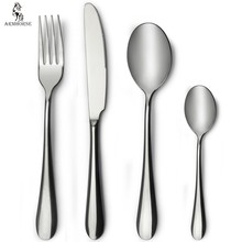 Logo printing stainless steel flatware cutlery sets wholesale