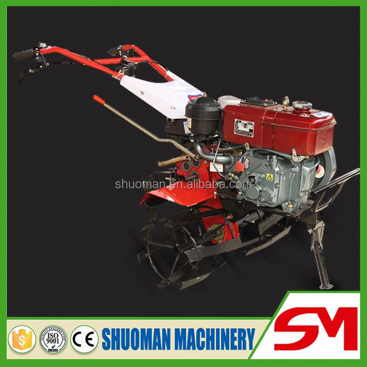 Simple structure and easy repair hand push garden tiller and cultivator