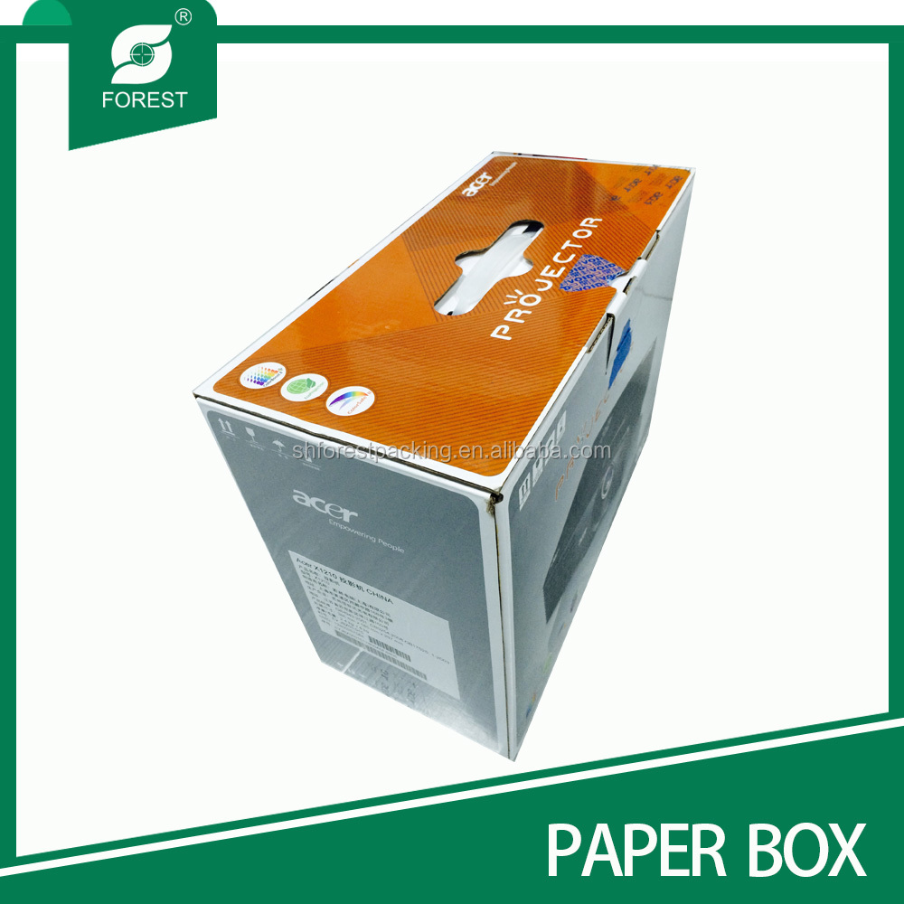 Plastic handle carton hard drive packing box