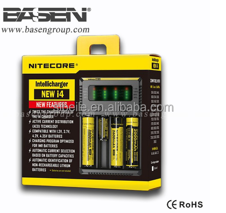 Nitecore New i4 Battery Charger for 18650 16340 26650 10440 AA AAA 14500 Battery Charger Nitecore I4 Charger new