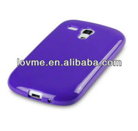 skin for Samsung i8190 Galaxy S3 Mini TPU Gel Skin Case / Cover - Solid Purpl