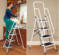 Folding safety step Ladders, household 4 step Ladders with handrail and Steel Material Ladders