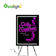 tempered glass or acrylic led neon sign indoor chalk board illuminated write on