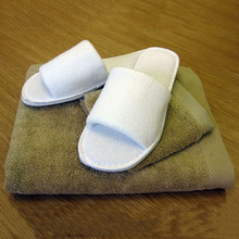 Hotel bathroom open toe mens spa slippers wholesale