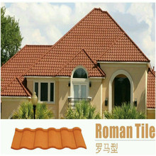philippines cultuured color sand Roman stone coated steel roofing tile