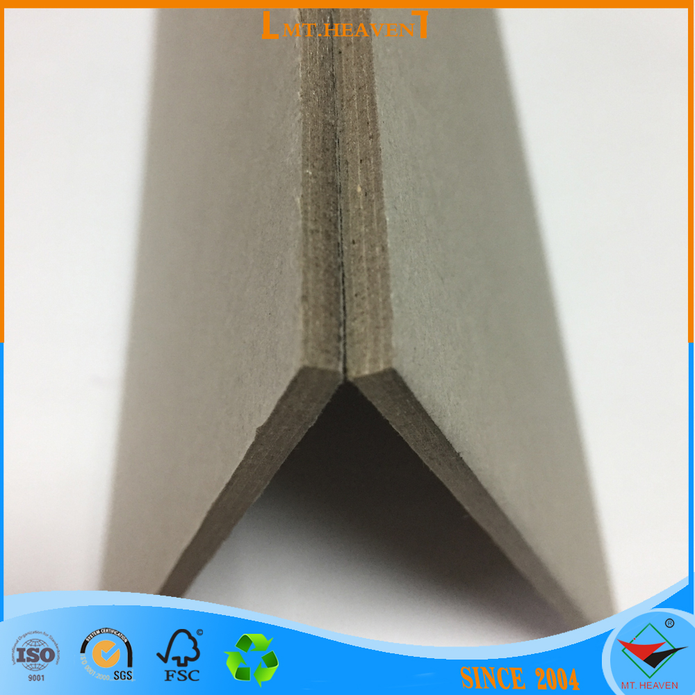 Laminated Grey Board Packaging Material/ 5.0mm strong stiffness Laminated Grey board for book binding