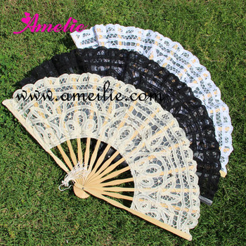 A0101 Wholesale White Ivory Black Victoria Decorative Wooden Folding Hand Fan