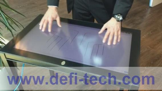 10 touch points 42 inch interactive touch foil