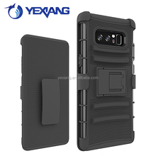 3 in 1 heavy duty armor belt clip case for samsung galaxy note 8 phone case