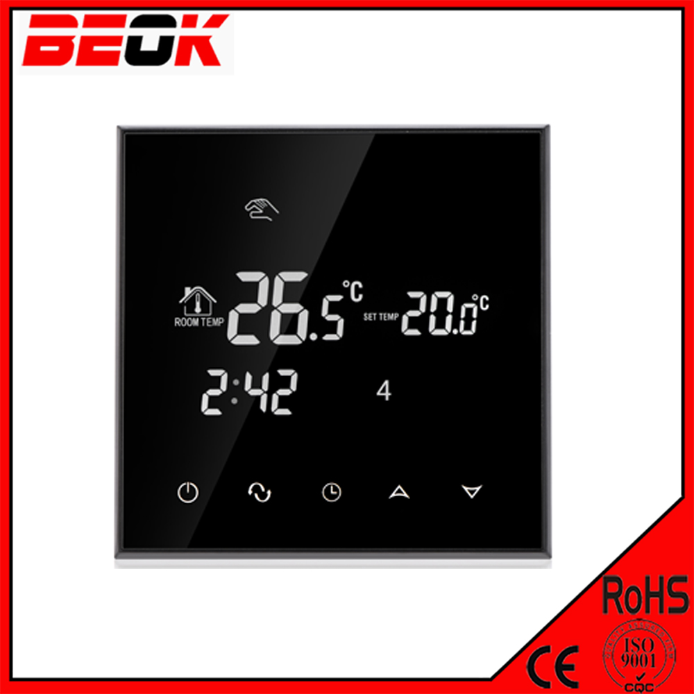 Black color backlight radiator thermostat TGT70-EP room digital heating mats thermostat