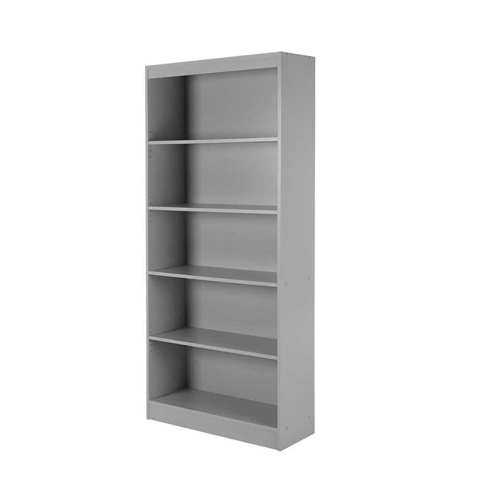 5 Shelf Bookcase In Grey Color 2002