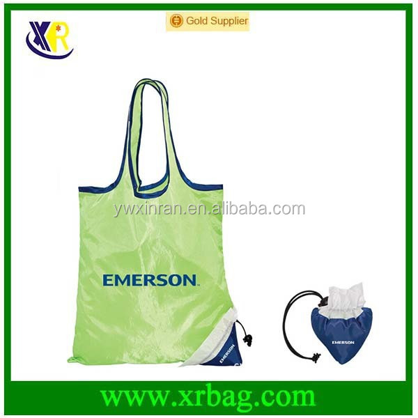 factory provide eco fruit apple shaped reusable folding shopping bag