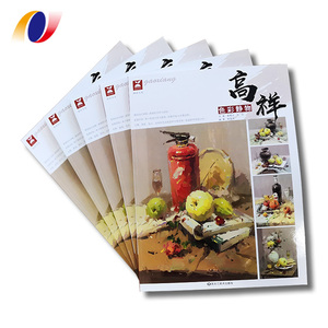 Custom PUR binding full color painting books printing